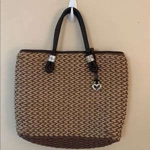 Brighton woven tote bag purse handbag